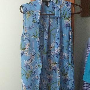 Size 6 tunic shirt, flower pattern, H&M